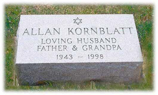 Footstone Kornblatt