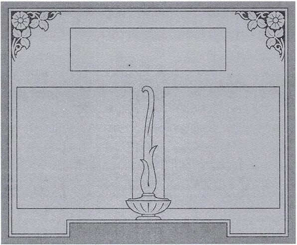 P Double Headstone
