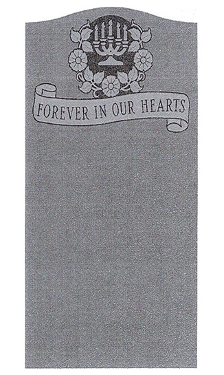 Single Headstone Sample Design C