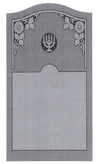 Single Headstone Sample Design E